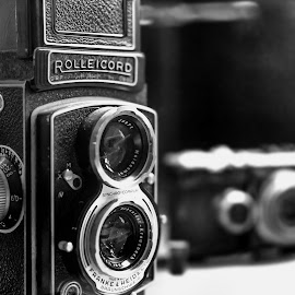 The Rolleicord V by Abhishek Nag - Artistic Objects Antiques ( black and white, still photography, camera, oxford, museum, close up, antique )