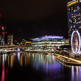 Glowing lights by Saurabh Tamhankar - City,  Street & Park  Night ( sydney, city, night, cityscape, australia, lights, landscape )