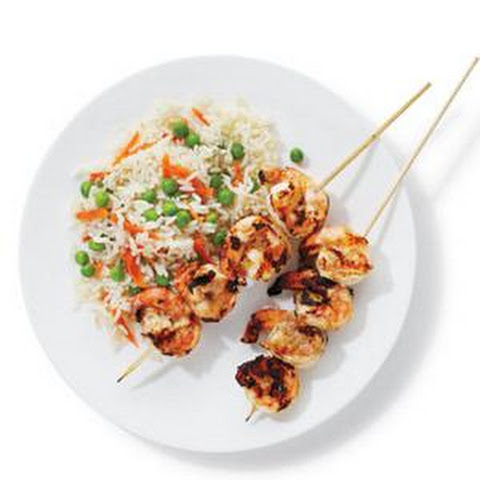 Tandoori Shrimp With Rice and Peas