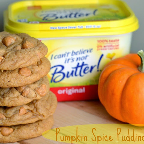 Pumpkin Spice Pudding Cookies