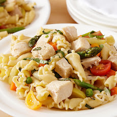 Chicken Pasta Primavera Salad with Parmesan Vinaigrette