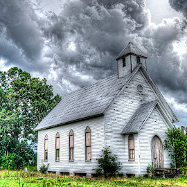 The Gods Must Be Angry by Stephen Honeycutt - Buildings & Architecture Places of Worship ( srh photography, hdr, church, nc, d7000, tainted lens photography, nikon, north carolina )