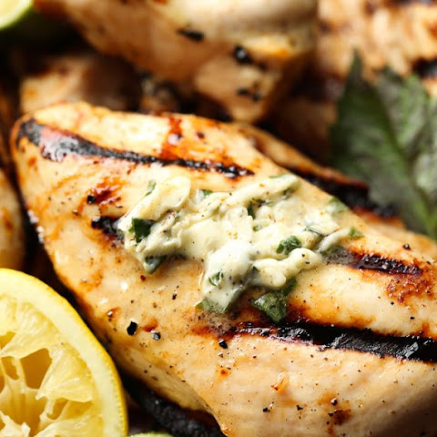 Honey Citrus Grilled Chicken with Basil Butter