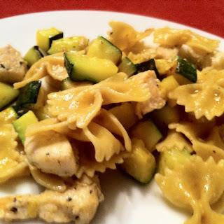 Chicken and Zucchini Bow Tie Pasta