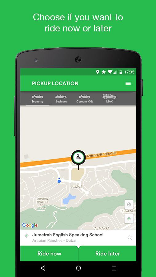 Careem - Car Booking App Screenshot 1