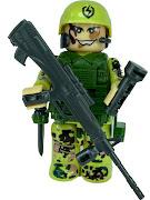 "Конструктор ""спец отряд"" в пустыне снайпер"