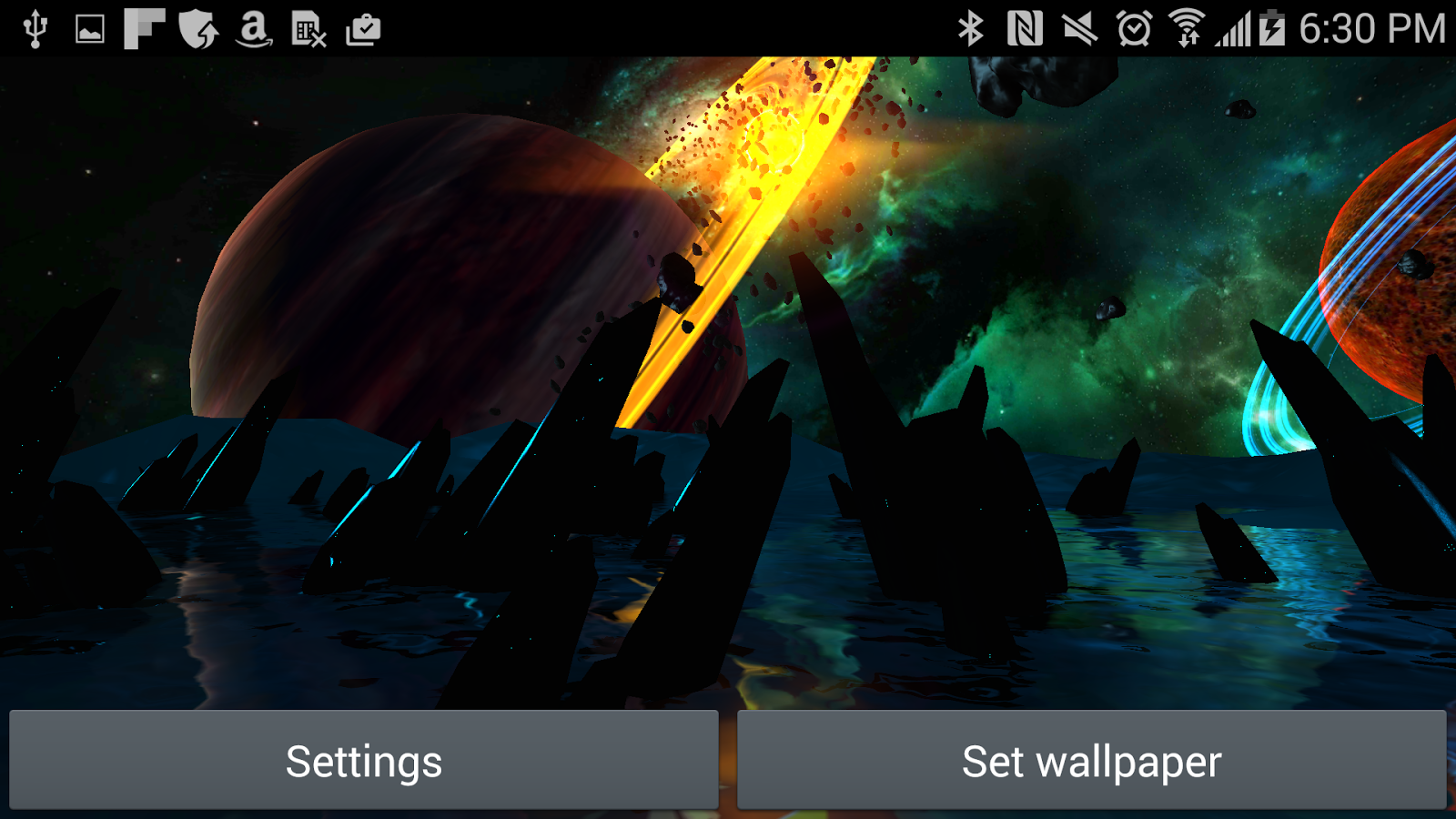 Far Galaxy 3D Live Wallpaper Screenshot 8