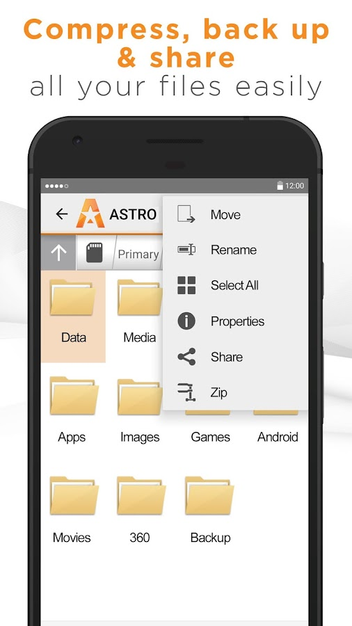 ASTRO File Manager Screenshot 2