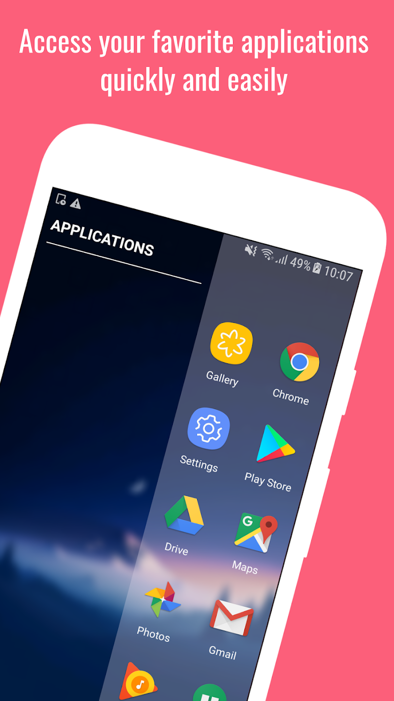 Edge Action: Edge Screen, Sidebar Launcher Screenshot 1