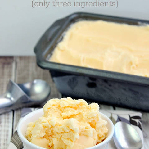 Peach Mango Ice Cream {Three Ingredients} with Kool-Aid Fruit Drink