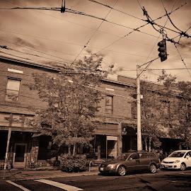 by J W - City,  Street & Park  Street Scenes