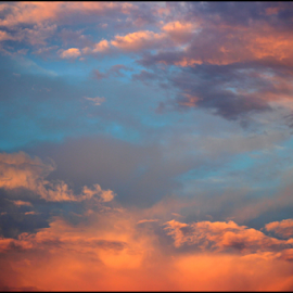 Heated Sunset by Mina Thompson - Landscapes Cloud Formations ( clouds, oregon, orange, nature, colorful, sunset )