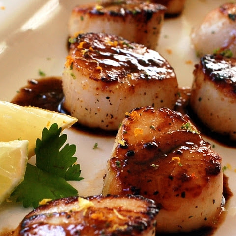 Seared Citrus Cilantro Scallops