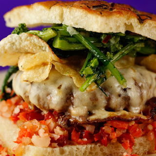 Italian Sausage Burgers with Provolone and Broccoli Rabe
