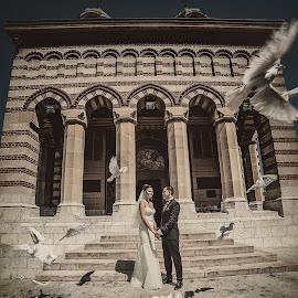 wedding by Adrian  Gabriel - Wedding Bride & Groom ( love, nature, adriangabrielphotography, shadow, nikon, light, sun )