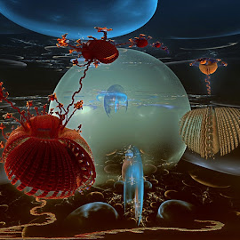 They Seek Adventure by Rick Eskridge - Illustration Sci Fi & Fantasy ( fantasy, jwildfire, mb3d, fractal, twisted brush )