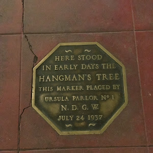 Here stood in early days the hangman's tree This marker placed by Ursula Parlor No. 1 N.D.G.W. July 24th, 1937 Submitted by @adeleseelke