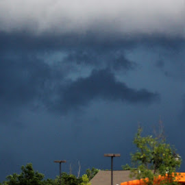 The Coming Storm by Leah Zisserson - Landscapes Weather ( buikdings, dark sky, weather, storm, lodge )