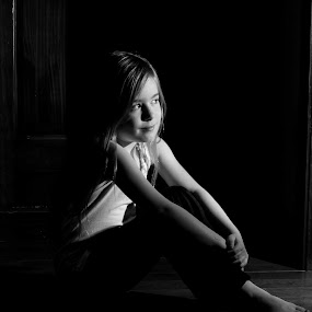 In the shadow by Janice Poole - Babies & Children Child Portraits (  )