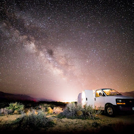 Living on the road by Jake Myhre - Transportation Automobiles ( van, milky way )