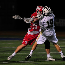 decapitation by Kevin Mummau - Sports & Fitness Lacrosse ( hit, airborne, crosscheck, penalty, really? )