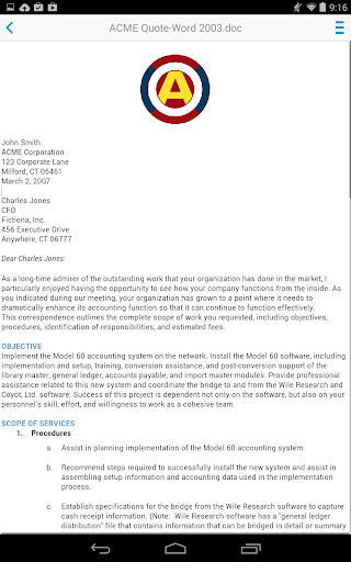 Docs To Go™ Free Office Suite screenshot 17