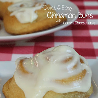Quick and Easy Cinnamon Buns with Cream Cheese Icing