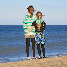 Best Friends by Steve Shelasky - Babies & Children Children Candids ( love, sisters, friends, children, summer, seascape, beach, landscapes, KidsOfSummer )
