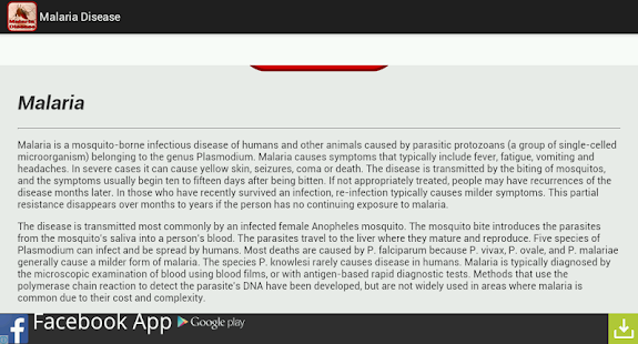 Malaria Disease - screenshot