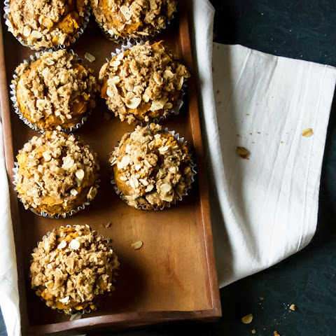 Bakery Style Moist Pumpkin Muffins with Streusel Topping