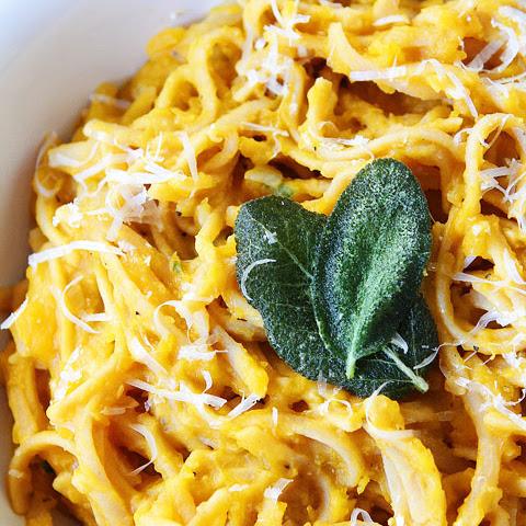 Spaghetti Squash Pasta With Butternut Sauce