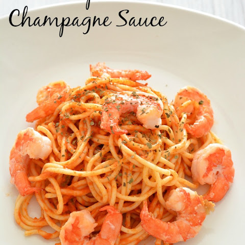 Shrimp with Champagne Sauce {Friday Food Find}