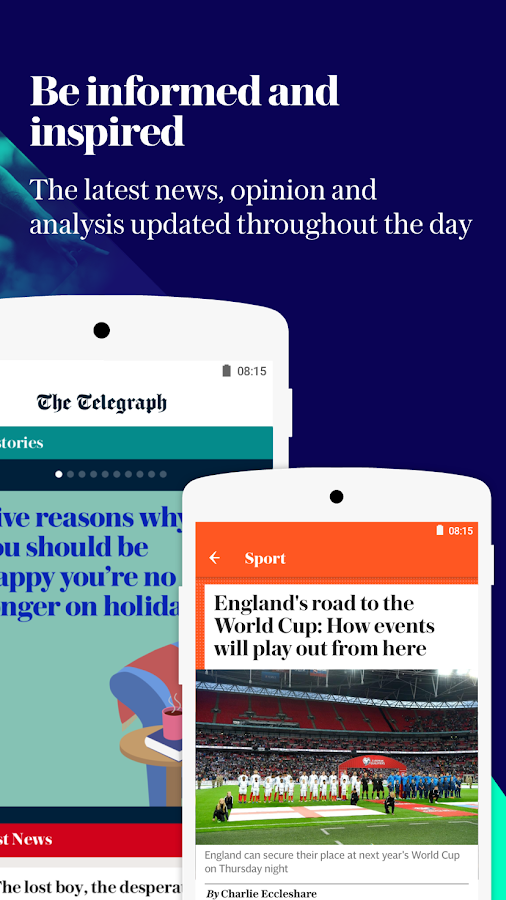 The Telegraph - Live News, Sport & Business Screenshot 1