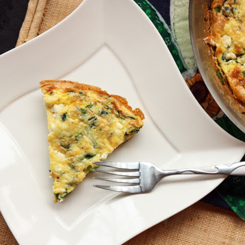 Spinach, Scallion, & Feta Frittata