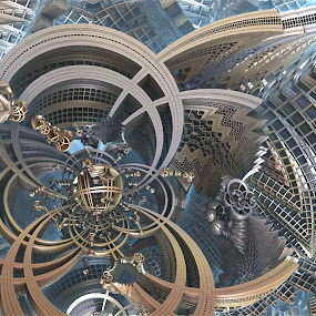 Amuzement Ride by Ricky Jarnagin - Illustration Abstract & Patterns ( abstract, ricky jarnagin, mandelbulb, dsynegrafix, 3d art, fractal )