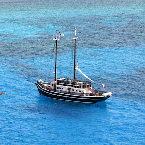 Anchored  by Bill Bettilyon - Transportation Boats ( carribbean, boat,  )