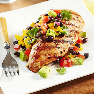 Southwest Stuffed Chicken Breasts with Black Bean Salad