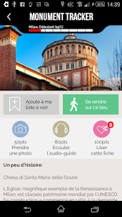 Milan Guide Monument Tracker - screenshot