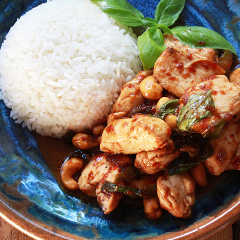 Chicken with Chili Jam & Cashews
