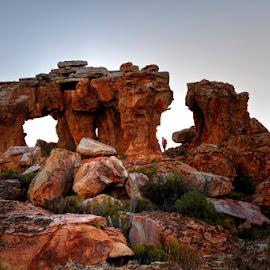 Temple Rock & Leopard Rock by Ant West - Landscapes Caves & Formations ( rock formation, landscape, rocks )