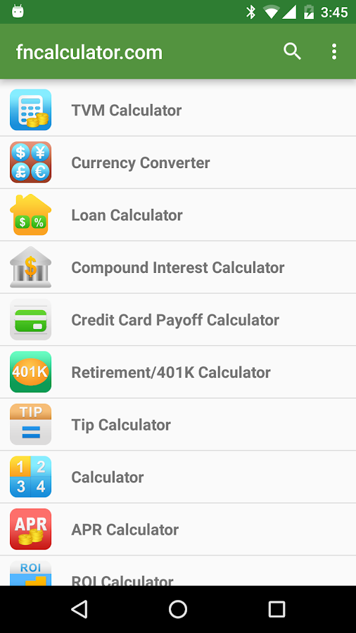 Financial Calculators Pro Screenshot 0