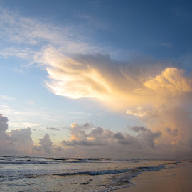 Beach Dream by Lynn Kohut - Landscapes Cloud Formations ( water, clouds, seascapes, cloud formation, ocean, sunrise, beach,  )