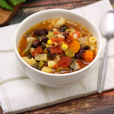 Two Bean Minestrone Soup