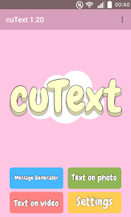 CuText : Generate cute message APK for Bluestacks
