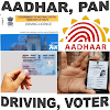 Aadhar Pan Driving Licence Vot