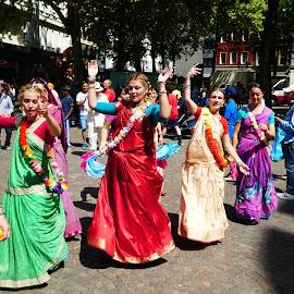 Ratha Yatra Köln 2018_4 by Svetlana Saenkova - City,  Street & Park  Street Scenes ( vedic, dance, ratha yatra,  )