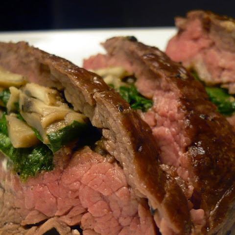 Mushroom and Spinach Stuffed Flank Steak