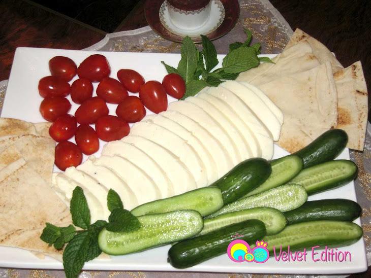 ... flatbread and halloumi stuffed olive oil roasted pepper halloumi olive