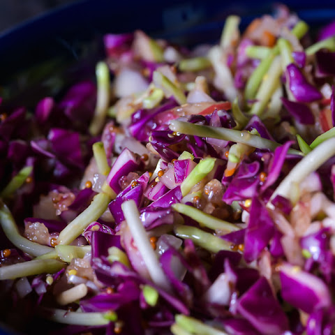 Asian Red Cabbage Slaw