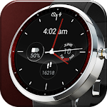 Red Lava Analog Watch Face Icon
